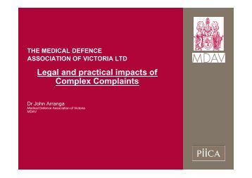 Legal and practical impacts of Complex Complaints