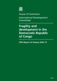 Fragility and development in the Democratic Republic of Congo