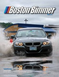 Inside this issue: - Boston Chapter BMW CCA