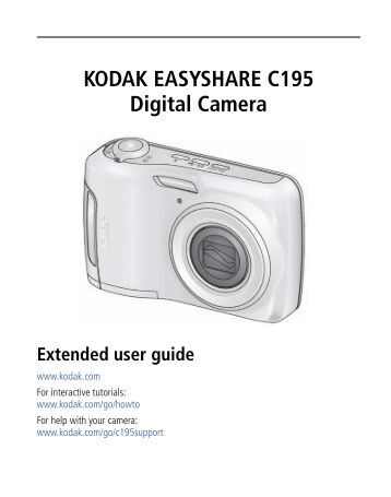 service manual for the kodak easyshare c140 digital Kodak EasyShare C613 Kodak EasyShare Cameras