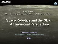 Space Robotics and the GER: An Industrial Perspective - NASA