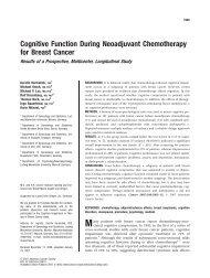 Cognitive function during neoadjuvant ... - des Klinikums