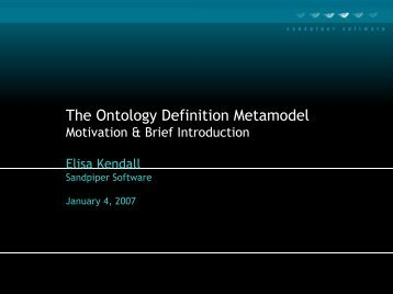 The Ontology Definition Metamodel - Ontolog - CIM3