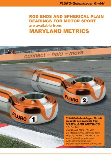 FLURO Rod Ends and Spherical Plain Bearings for - Maryland Metrics