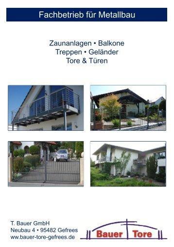 Zaunanlagen - Bauer Tore Gefrees