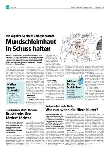 Mundschleimhaut in Schuss halten - longlife.medical-tribune.de ...