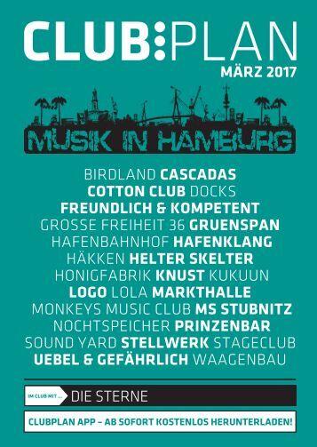 Clubplan Hamburg - März 2017