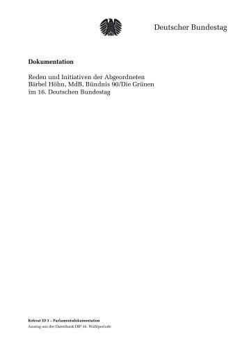 Deutscher Bundestag - Markus Tressel, MdB