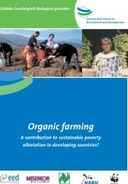 Organic Farming– A Contribution to Sustainable Poverty ... - Naturland