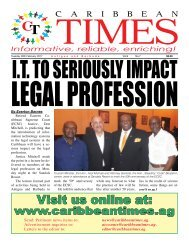 Caribbean Times 7th Issue - Tuesday 28th February 2017