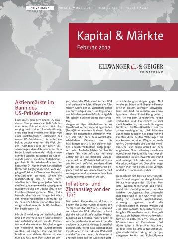 Kapital & Märkte: Ausgabe Februar 2017