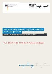 Auf dem Weg zu einer digitalen Charta - ein Gipfelprozess