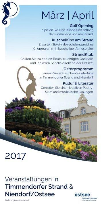 Veranstaltungen März April 2017