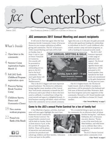 2017 Spring CenterPost
