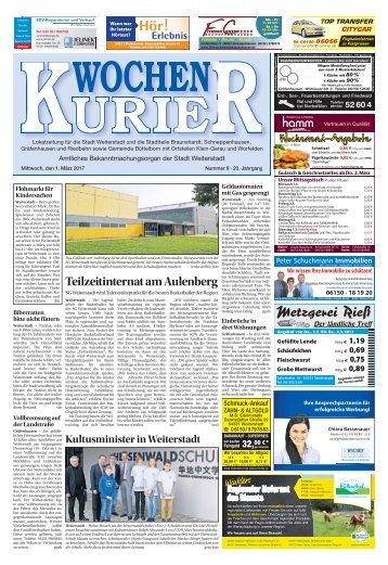 Wochen-Kurier 9/2017 - Lokalzeitung für Weiterstadt und Büttelborn