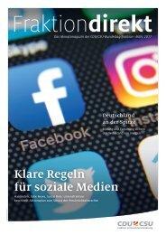 Fraktion direkt - Das Magazin | Ausgabe 03/2017