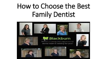 Tips on How to Choose the Best Family Dentist