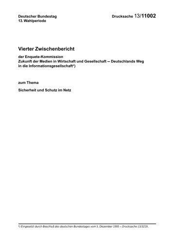 Vierter Zwischenbericht - Deutscher Bundestag
