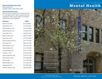 Mental Health - Columbia University Medical Center