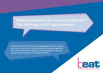 Seeking treatment for an eating disorder? The first step is a GP appointment