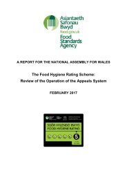 The Food Hygiene Rating Scheme Review of the Operation of the Appeals System