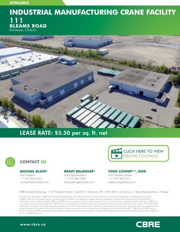 INDUSTRIAL MANUFACTURING CRANE FACILITY 111