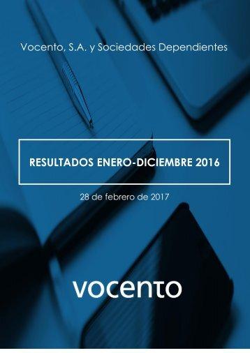 RESULTADOS ENERO-DICIEMBRE 2016