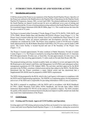 Chapter 1 - Bureau of Land Management