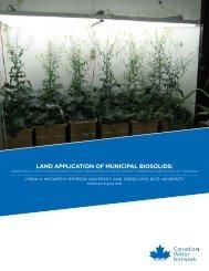 LAND APPLICATION OF MUNICIPAL BIOSOLIDS