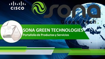 Portafolio Comercial SONA GREEN TECHNOLOGIES