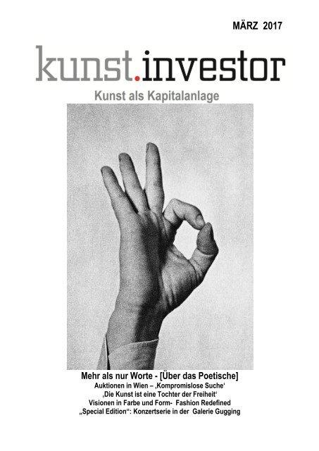 KUNSTINVESTOR AUSGABE MÄRZ 2017