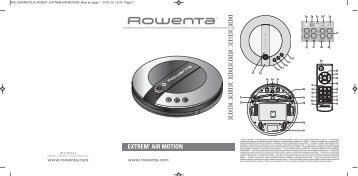 Rowenta EXTREM' AIR MOTION RR7039 - EXTREM' AIR MOTION RR7039 Magyar (Hungarian)
