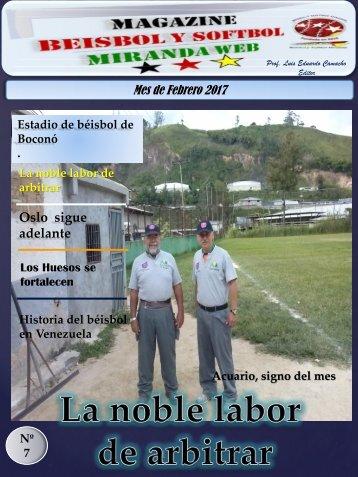 Magazine Beisbol y Softbol Miranda Febrero 2017
