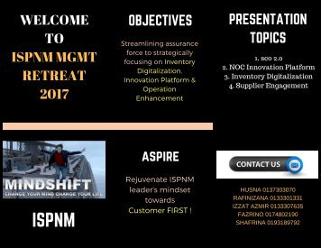 ISPNM Mgmt Retreat 2017