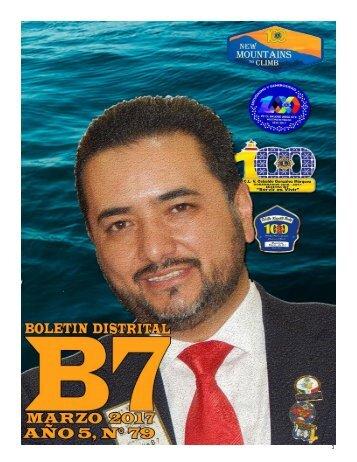 BOLETIN DISTRITAL B7 AÑO 5, N°79 MARZO 2017
