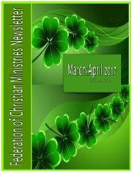 March:April 2017 FCM Newsletter