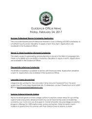 Guidance Office News Friday February 24 2017