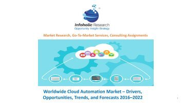 Worldwide Cloud Automation Market – Drivers, Opportunities, Trends, and Forecasts, 2016–2022