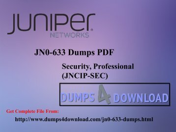 Juniper JN0-633 Exam Preparation Tips - Dumps4download.com
