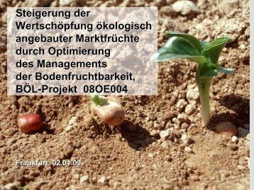 Steigerung der Wertschöpfung ökologisch angebauter - Naturland