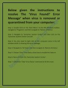 Steps To Resolve The Virus Message - Page 2