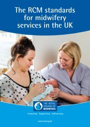 The RCM standards for midwifery services in the UK