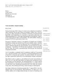 Rektor Linda Nielsen Københavns Universitet Nørregade 10 1017 ...