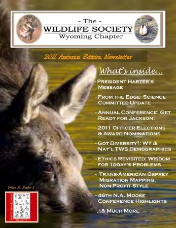 2011 Autumn Edition Newsletter What's inside... - The Wildlife Society