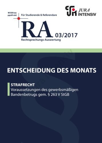 RA 03/2017 - Entscheidung des Monats