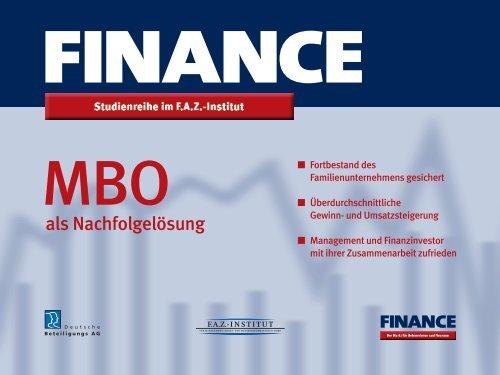 MBO als Nachfolgelösung - Deutsche Beteiligungs AG