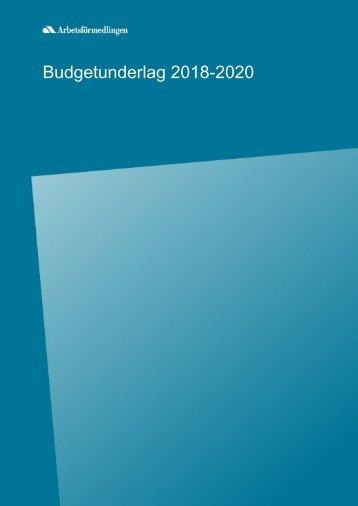 Budgetunderlag 2018-2020