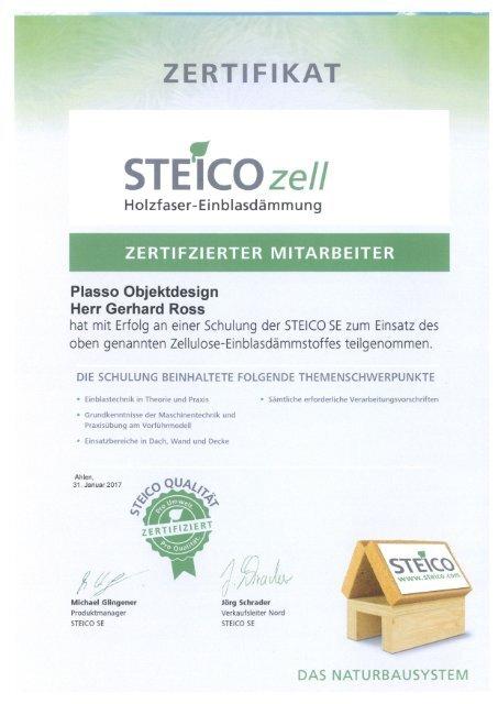 Steico Zertifizierter Mitarbeiter - Gerhard Ross