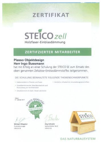 Steico Zertifizierter Mitarbeiter - Ingo Bussmann