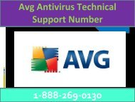 Avg antivirus Customer Care 1-888-269-0130 Helpline Number